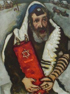 Rabbi with Torah (1965) Marc Chagall