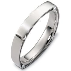 Palladium Diamond Wedding Ring | www.WeddingBands.com | @Wedding Bands