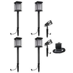 Malibu Lighting 8418290606 Landscape Low Voltage Led Prominence Path Amp Spot Light Kit Gun