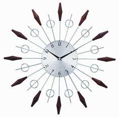 """20"""" Noyes Mid Century Wall Clock"""