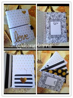 Midori scrap @elscrapdeanna Study Organization, School Planner, Travelers Notebook, Mini Albums, Bujo, Journals, Anna, Scrapbooking, Gift Wrapping