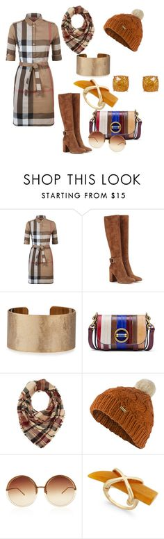 """Fall & All"" by tinydancer2018 ❤ liked on Polyvore featuring Burberry, Gianvito Rossi, Panacea, Tory Burch, Charlotte Russe, Barbour, Linda Farrow and Humble Chic"