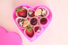 Chocolate Covered Fruit by makingniceinthemidwest #Valentines #Fruit #Chocolate #Healthy