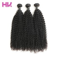 Hair Villa Brazilian 100% Unprocessed Human Hair 3 Bundles Kinky Curly Hair Weft Natural Color Salon Longest Hair PCT 20%