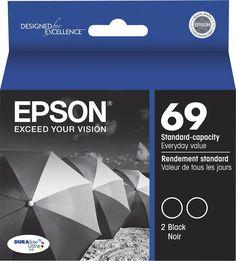 Epson - 69 2-Pack Ink Cartridges - Black, T069120-D2