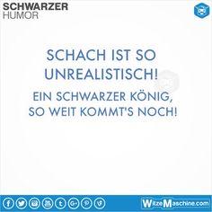 Schwarzer Humor Witze Sprüche #141 - Schach: Schwarzer König