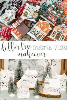 Diy Christmas Village, Dollar Tree Christmas, Christmas Villages, Kids Christmas, Diy Christmas Decorations Easy, Christmas Store, Christmas Things, Modern Christmas, Dollar Tree Decor
