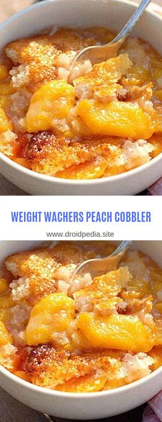 Weight Watchers: 5 New Barbecue Recipes Weight Watcher Desserts, Weight Watchers Diet, Weight Watcher Dinners, Pecan Cobbler, Berry Cobbler, Healthy Peach Cobbler, W Watchers, Weigh Watchers, Ww Recipes