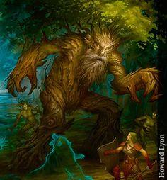 ENT  guardián de los bosques, híbrido entre hombre y árbol.