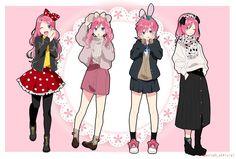 Honey Works, Super Hero Costumes, Emoji, Images, Digital Art, Superhero, Pink, Meme, Character