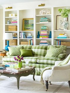 Lighting above the bookshelves Living room design & book shelves by Meg Braff featured on Cote de Texas My Living Room, Home And Living, Living Spaces, Living Area, Small Living, Home Interior, Interior Design, Interior Ideas, Interior Modern