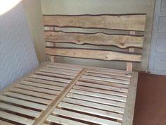 diy bed frame - cool! so unique!