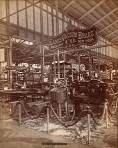 1876: The Machinery Hall at the Centennial Exhibition Philadelphia