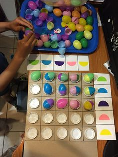 Homemade egg matrix logic game just in time for Easter !Please visit and like…