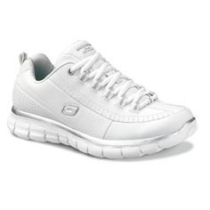 1d5cec745925 Skechers Womens Athletic Shoes Synergy Elite Status White Silver size 11 W  NEW
