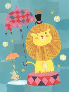 Kay Widdowson - Circus Lion On Blue