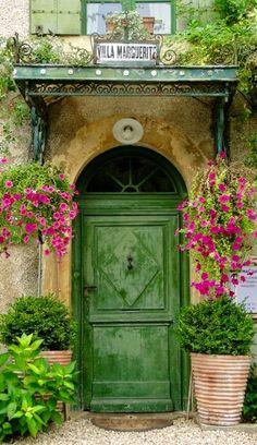 Mediterranean Door, landscape, paint