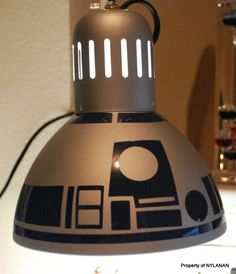 DIY R2-D2 Lamp from $10 IKEA lamp