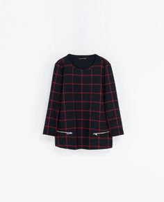 Image 6 of CHECKED TOP WITH ZIPS from Zara