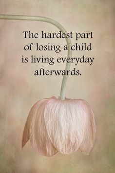 The hardest part of losing ...