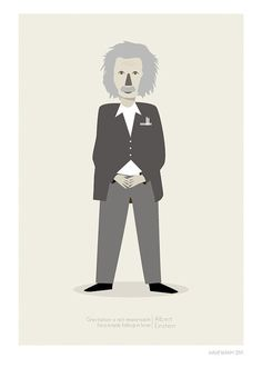 I might have to buy this print. There is just that something about brilliant men.