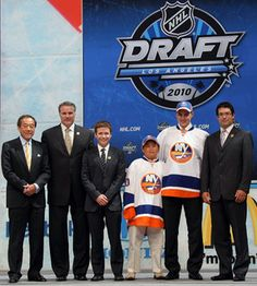 Frozen In Time  2010 - The Islanders selected Nino Niederreiter fifth overall in the 2010 NHL Entry Draft at Staples Center in Los Angeles, Calif. on June 25th. by Official New York Islanders, via Flickr