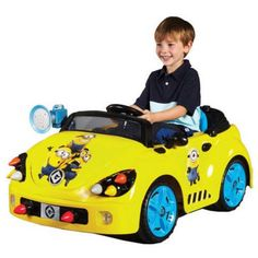 Electric Ride On Car Minions 6 Volt Battery Operated Boy Girls Kids Toy Play New #Minions