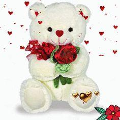 Beautiful Love Pictures, Beautiful Gif, Teddy Bear Cartoon, Cute Teddy Bears, Corazones Gif, Happy Birthday Wallpaper, Love You Gif, Teddy Bear Pictures, Lion Wallpaper