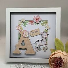 Can also be free standing. Condition is New. Personalised Frames, Personalised Baby, Personalized Gifts, Handmade Gifts, Box Frame Art, Box Frames, Shadow Light Box, Shadow Box, New Project Ideas