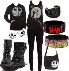 """Goth chick outfit"" by princess-sum-sum ❤ liked on Polyvore"