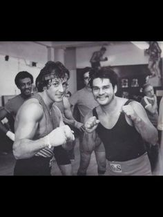 with Roberto Duran during the filming of 'Rocky II'