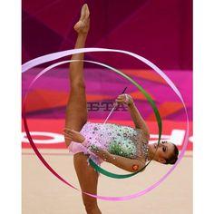 Olympic Games 2012 Gymnastics Rhytmic ❤ liked on Polyvore featuring gymnastics