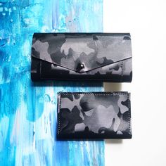 🖤 Black Camouflage wallet & card holder set 🖤 PM to order or available @youngxable at @canalstreetmarket  . . . #madeinbrooklyn #leather #wallet #black #camouflage #print