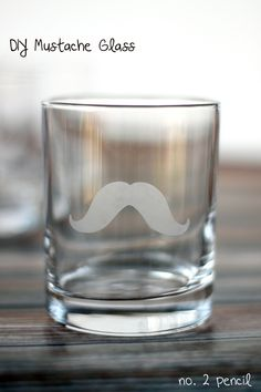 DIY Mustache Glass, so cute and so easy to make!