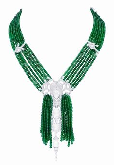 """""""Les Jardin Bomarzo"""", an emerald and diamond necklace by Van Cleef & Arpel"""