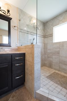 Glass doors are common choices for walk in showers. www.choosechi.com