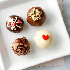 Box up these dreamy, no-bake truffles and send them to the one you love. More Valentine's Day recipes: http://www.bhg.com/holidays/valentines-day/recipes/valentines-day-dessert-recipes/?socsrc=bhgpin012813nobaketruffles=3