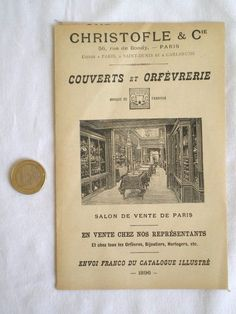 ANCIENNE PLAQUETTE DÉPLIANT PUBLICITAIRE ORFÈVRERIE CHRISTOFLE 1896 | Collections, Objets publicitaires, Publicités papier | eBay!