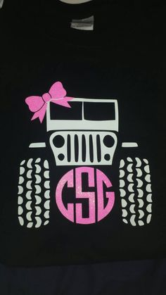 CUTE Monogrammed Jeep T-shirt by MonogramsbyMarilyn on Etsy https://www.etsy.com/listing/226483452/cute-monogrammed-jeep-t-shirt