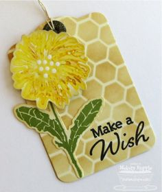 Dandelion Wishes; Dandelion Stems and Toppers Die-namics; Tag You're It Die-namics; Mini Chicken Wire Stencil - Melody Rupple
