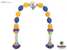 Circus themed birthday balloon Arch!