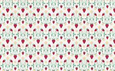 Strawberries via www.kaylaenglish.ca #pattern #strawberry