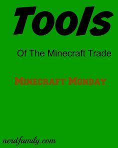 The Tools of The Minecraft Trade - Nerd Family Minecraft Challenges, Cool Tools, Nerd, Education, Logos, Logo, Otaku, Geek, Onderwijs