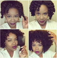 Nice twistout - my hair is too long & heavy for this now, but I love this look.