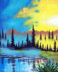 Misty Morning Lake at Norland Pub - Paint Nite Events near Chambersburg, PA>