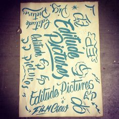 brush lettering for #editudepictures by #Otto Baum / #KLUB7 Berlin