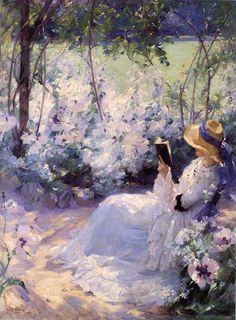 Frank Bramley (English post-impressionist genre painter of the Newlyn School) 1857 - 1915, Delicious Solitude, 1909, oil on canvas, 122 x 91 cm., s.l.