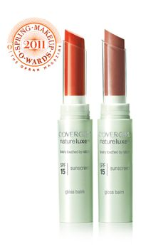 In coral...Not a fan of drugstore makeup and I hate lipstick (love gloss), but this stuff has perfect subtle color and soft shine