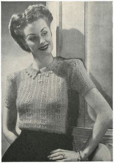Free Pattern for a 1940s Lace Jersey