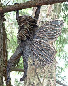 Grandpa Fairy by Deran Wright-Bronze
